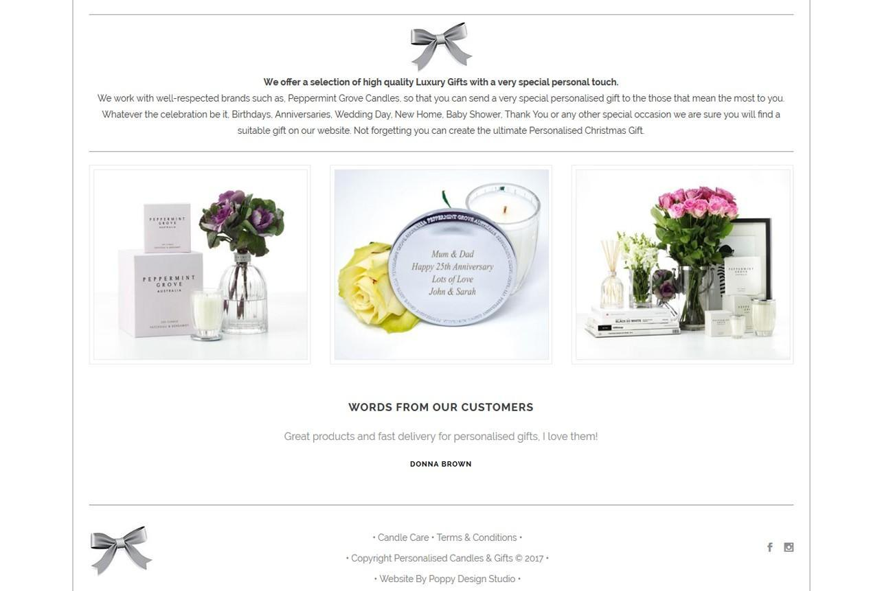 Personalised Candles and Gifts