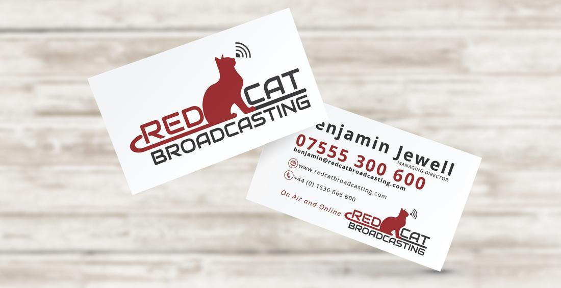 Red Cat Broadcasting - Business Card Design & Print