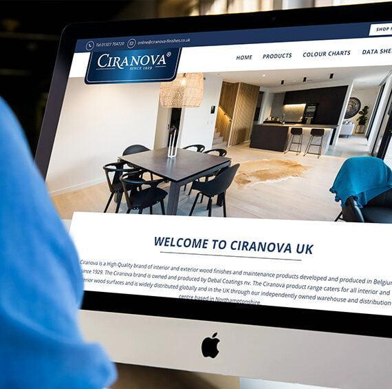 Ciranova Shop Website Design