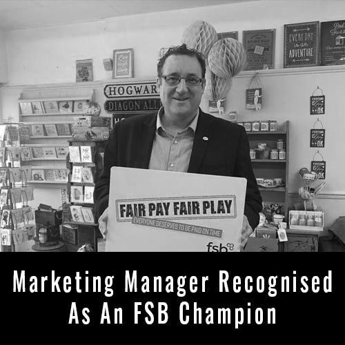 Marketing Manager Recognised As An FSB Champion